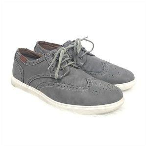 Steve Madden Ranney Mens Wingtip Gray Sneaker 10